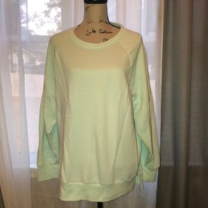 Victoria's Secret pink mint green crew sweatshirt